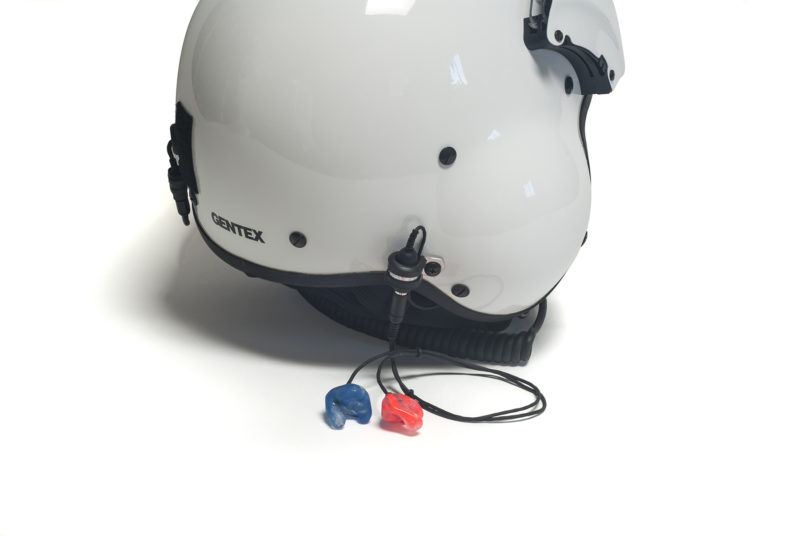 P.A.C.E. system on Gentex Helmet
